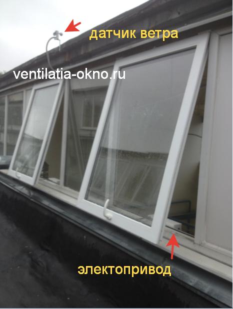 Электропривод на окна с датчиком дождя или ветра