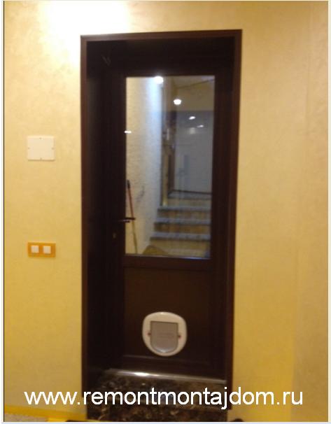 дверцы для домашних животных установка